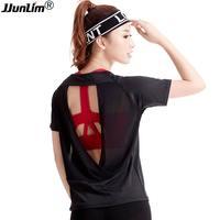 2017 Sport Shirts Dry Fit Women Fitness Yoga Top Female T Shirt Short Sleeve Running Shirt