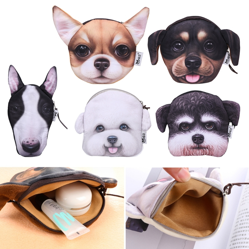 THINKTHENDO Fashion Children Girl Boys 3D Animals Zipper Coin Change Card Purse Wallet Pouch Bag 2017 Lovely Short plush Bags