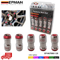 AUTÉNTICO EPMAN TUERCAS M20 X 1.25 ACORN RIM Racing Tuercas de la Rueda Tornillo 20 UNIDS COCHE Para Toyota EP-NU7000-1.25-FS