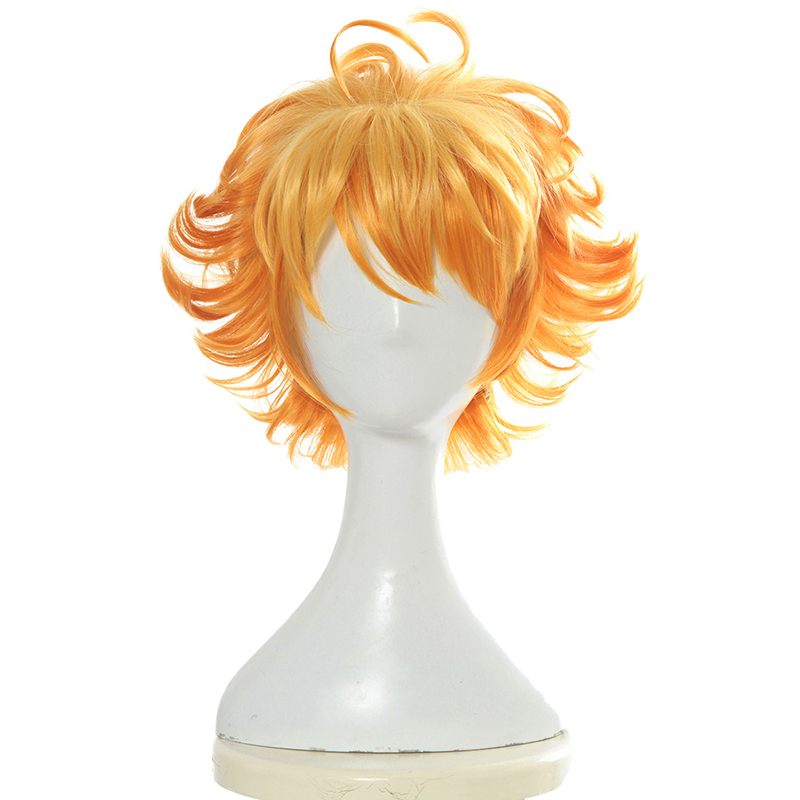 The Promised Neverland Emma Cosplay Wig Yakusoku no Neverland Cosplay Hair Headwear Halloween Cosplay Costume Accessories