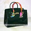 Venda quente turquesa populares saco bolsa feminina bolsa de sacos de borracha de plástico PVC impermeável sacos de praia geléia doces mulheres de cor bolsa