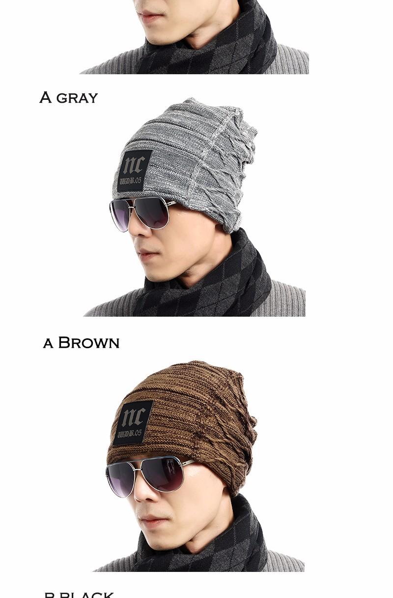 FETSBUY Brand Beanies Knit Men'S Winter Hat Caps Thick Skullies Bonnet Hats For Men Women Beanie Female Warm Baggy Knitted Hat 16