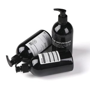 Image 4 - Scandinavian Bath Shampoo Storage Bottle Chic Black Liquid Lotion Bottle Nordic Travel Storage Bottle Organizer Decor 500ml