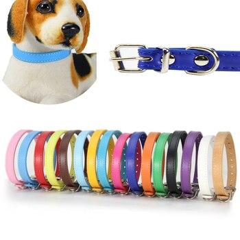 Collares de colores suaves para perros pequeños medianos y perros gatos correa para el cuello ajustable