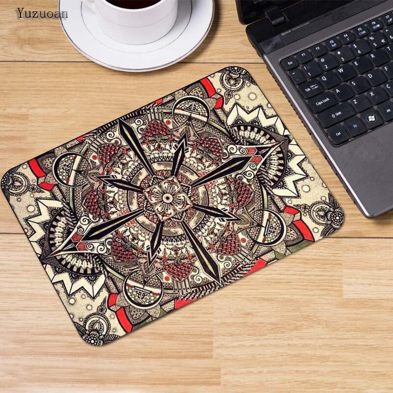 Yuzuoan персидский ковер Мышь pad украсить ваш стол дома и офиса Gming планшетный ноутбук Мышь Pad Размеры (22x18x0,2 см)