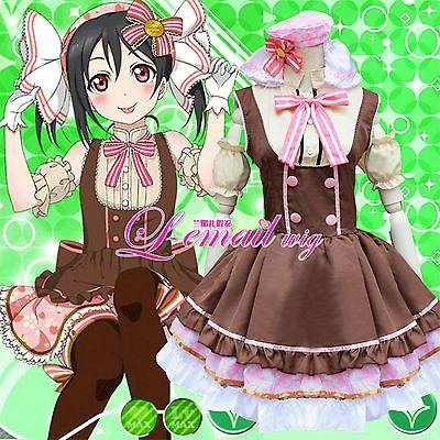 Anime Love Live! Lovelive Yazawa Nico Maid Uniform Maidservant Tutu Dress Lolita Costume Outfits Cosplay New