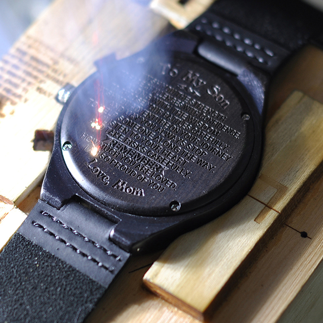 Engraved Wooden Watches  Personalized Gifts For Son, or friends, Lover's Birthday,Anniversary Day,Groomsman Gift 1