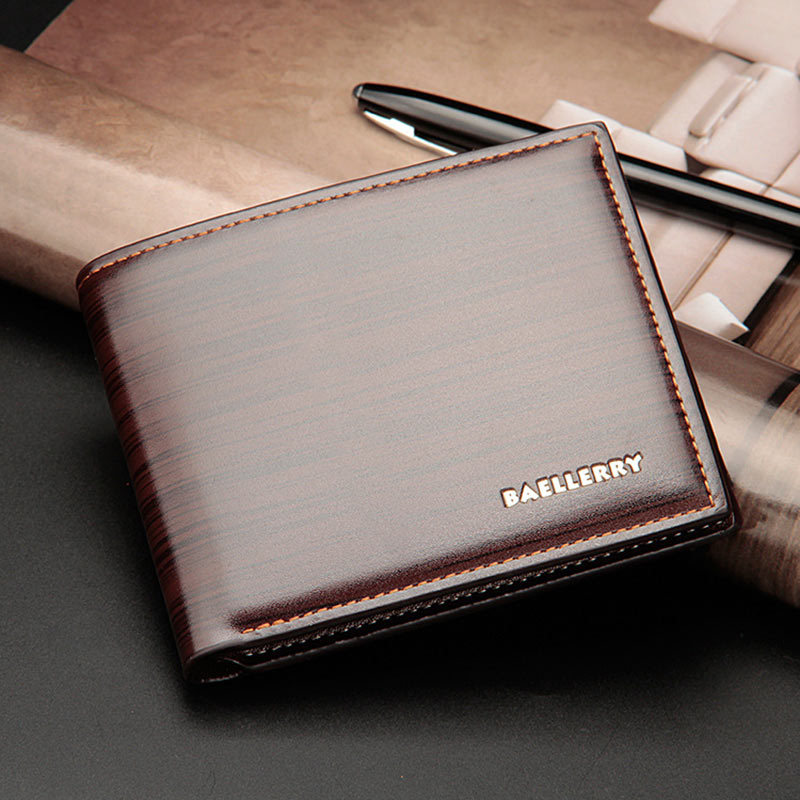 Short Purse Wallet Card-Holder Money-Bag Billfold Clutch Men New-Style Casual