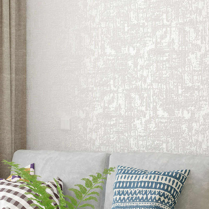 Paysota Modern Simple Solid Color Yellow Wallpaper Bedroom: White,Brown Abstract Metallic Embossed Plain 3D Textured