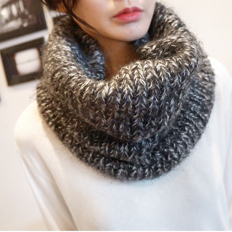Unisex Knitted Scarf LICs Winter Thick Knitting Warm Collar For Women LIC Scarves Spring Ladies Dachshund Mens