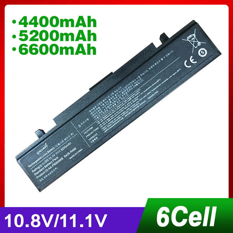 6CELLS Laptop Battery R528 Aa Pb9ns6b Para Samsung AA-PB9NS6B PB9NC6B R540 R519 R525 R580 R430 RV511 RV411 RV508 R510