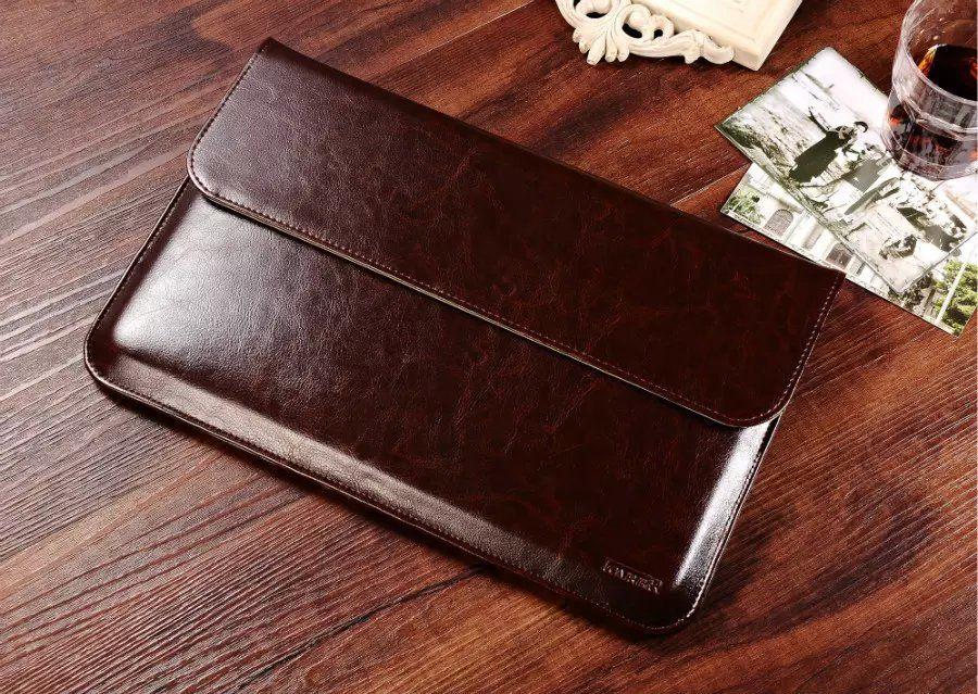 Brand new Luxury Genuine Leather Sleeve For Apple Macbook Air 13 Laptop  LX86