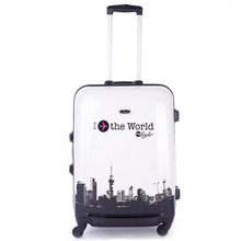 Aluminum Frame Hot sales ABS trolley suitcase luggage/Pull Rod trunk /traveller case box with spinner wheel