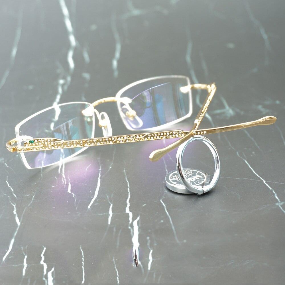 Panther lunettes cadre Carter lunettes de soleil pour femmes et hommes sans monture lunettes pour lire luxe décoration Gafas 0146 - 2