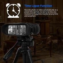 Bestguarder Night Vision Time Lapse IPX4 HD Hunting Binoculars 400M Big Screen 5x Zoom 4.5X40mm 32G Infrared Telescope Monocular