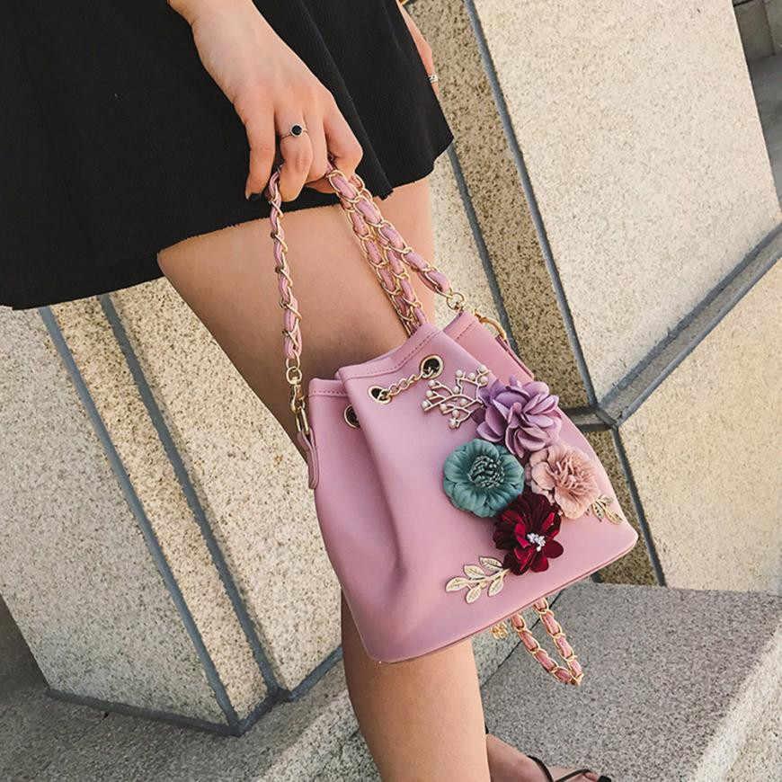 4e6dd68d00 ... Women Evening Bag Ladies Flower Wedding Clutches Female Pink Black Clutch  Purse Applique Flower Pearl Leather ...