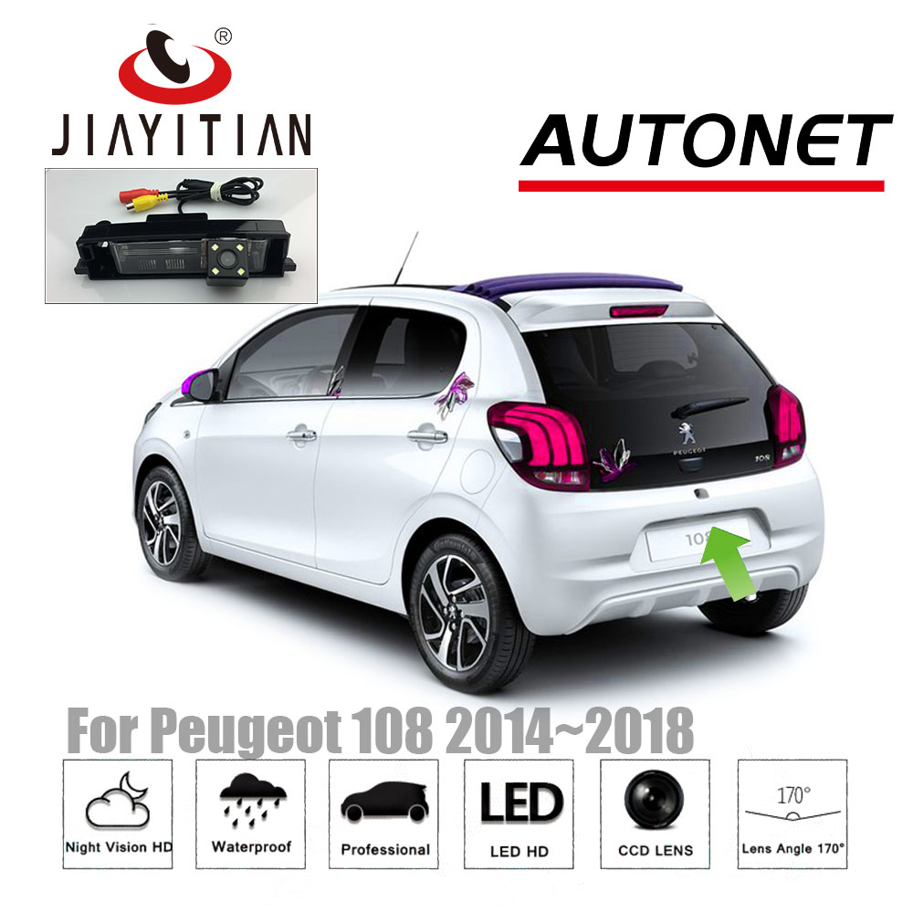 JiaYiTian Rear View Camera For Peugeot 108 2014~2018 CCD/Night Vision/Backup Camera/License Plate Camera Parking Assistance