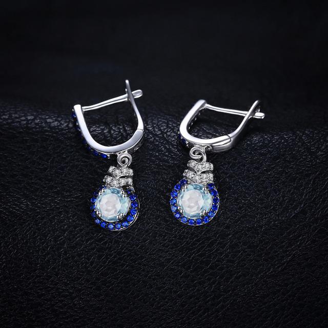 Silver earrings BLUE TOPAZ