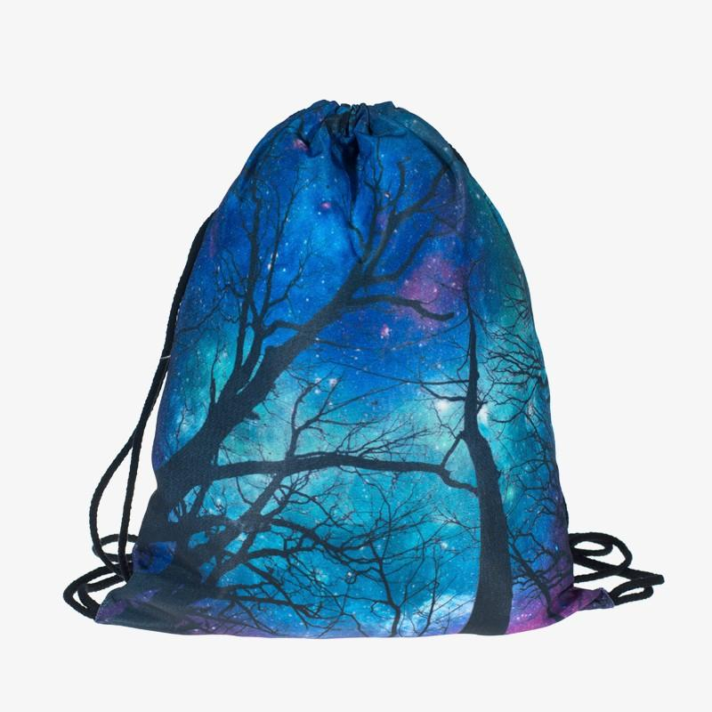 Galaxy space 3D printing Women vogue brand drawstring bag Casual wild sport  man Gym bags mochila Zohra Classic forever backpack-in Backpacks from  Luggage ...