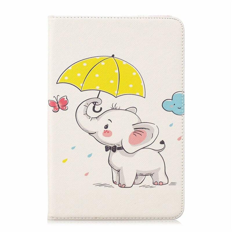New Folio Printed Owl Bear For Samsung Galaxy Tab A 8.0 T350 Case Flip PU Bracket Funda For Tab A 8.0 SM-T350 T355 Tablet Case