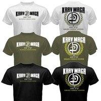 New Krav Maga Israel Combat System Self Defense IDF MMA Martial Arts T Shirt Tee Black