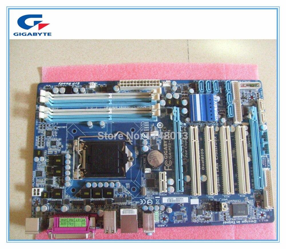 Livraison gratuite origine carte mère Gigabyte GA-P55-UD3L P55 Bureau motherborad P55-UD3L LGA 1156 DDR3 16G pour I5 I7 CPU