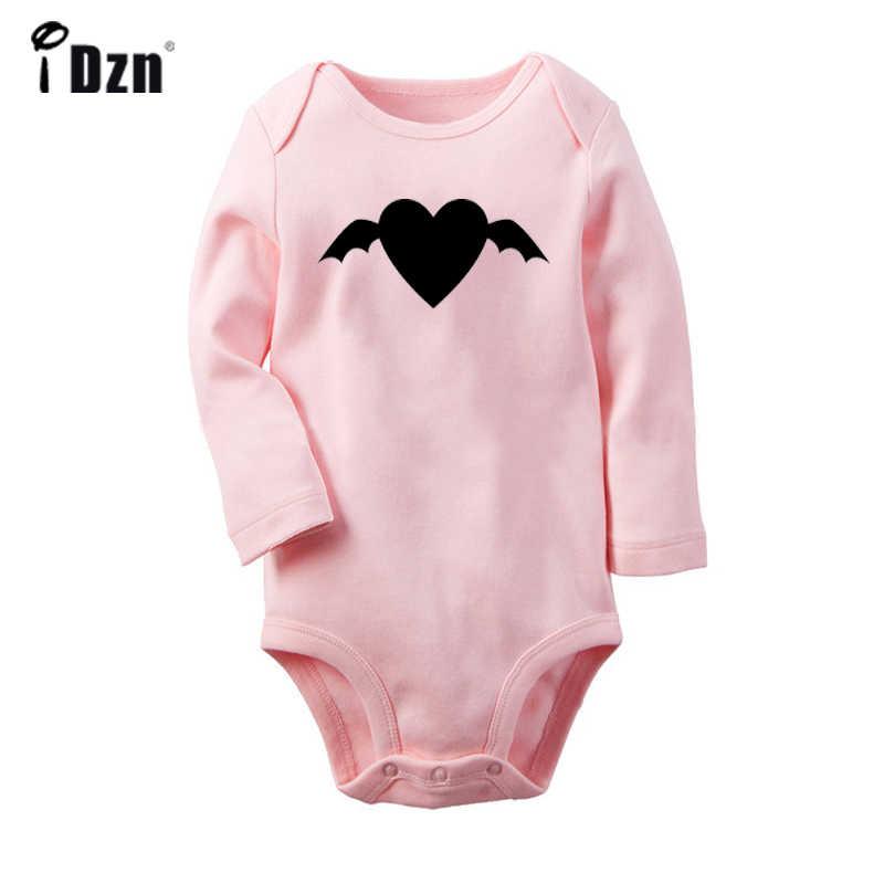 Черный комбинезон с принтом «летучая мышь» для новорожденных мальчиков и девочек, Униформа-комбинезон с принтом, боди для малышей, одежда из 100% хлопка