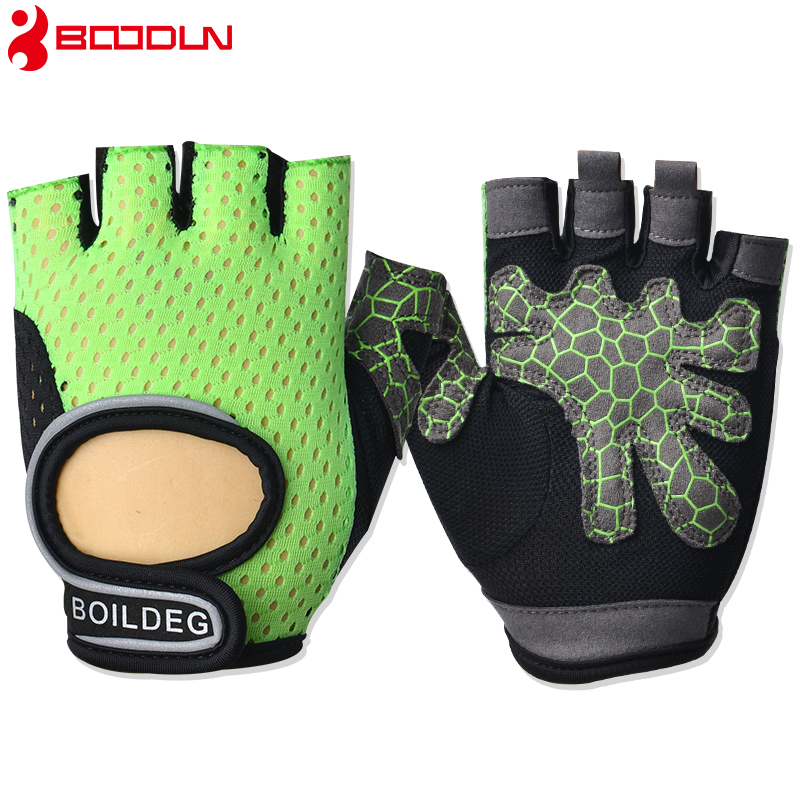 Купить с кэшбэком Boodun Weight Lifting Gym Gloves Training Fitness Gloves Men Sports Exercise Slip-Resistant Breathable Gloves Women Yoga Gloves