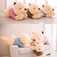 Large Doll Cute Hug Bear Raccoon Kawaii Fashion Cartoon Bear 0 12 Years Old Children Sleep Teddy Bear Plush Toy 2018 New
