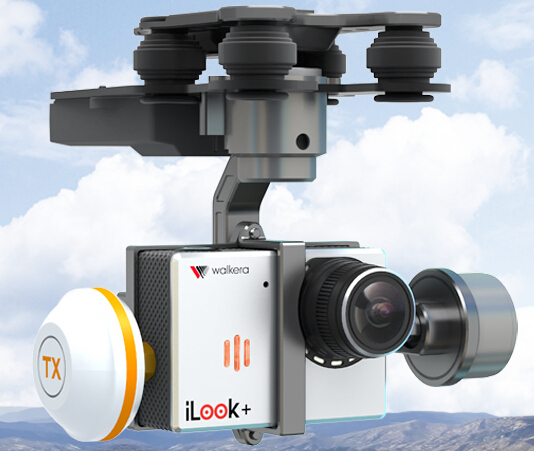 2014 NEW Walkera G-3D 3 Axis Camera Brushless Gimbal para QR X350 Pro / Tali H500 apoio iLook iLook + Gopro Hero 3