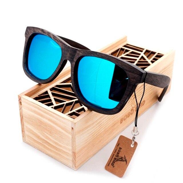 New Luxury Desgin Men's Sunglasses Original Wooden Sunglasses Casual Polarized Lens Sunglasses for Men With Wood Gift Box 2017