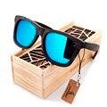 New lujo desgin hombres lente polarizada gafas de sol originales gafas de sol de madera gafas de sol ocasionales para los hombres con la caja de regalo de madera 2017