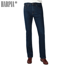 HARPIA High Quality Jeans Men Casual Straight Denim Male Classic Jeans Pants Man Stretch Fashion Heavyweight Trousers Size31-44