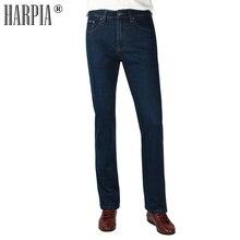 HARPIA High Quality Jeans Men Casual Straight Denim Male Classic Jeans Pants Man Stretch Fashion Heavyweight Trousers Size31-44 недорго, оригинальная цена