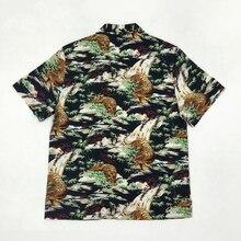 Camisa Vintage de verano con estampado con patrón animal Hawaiano Bob Dong Aloha Hawaii para hombre