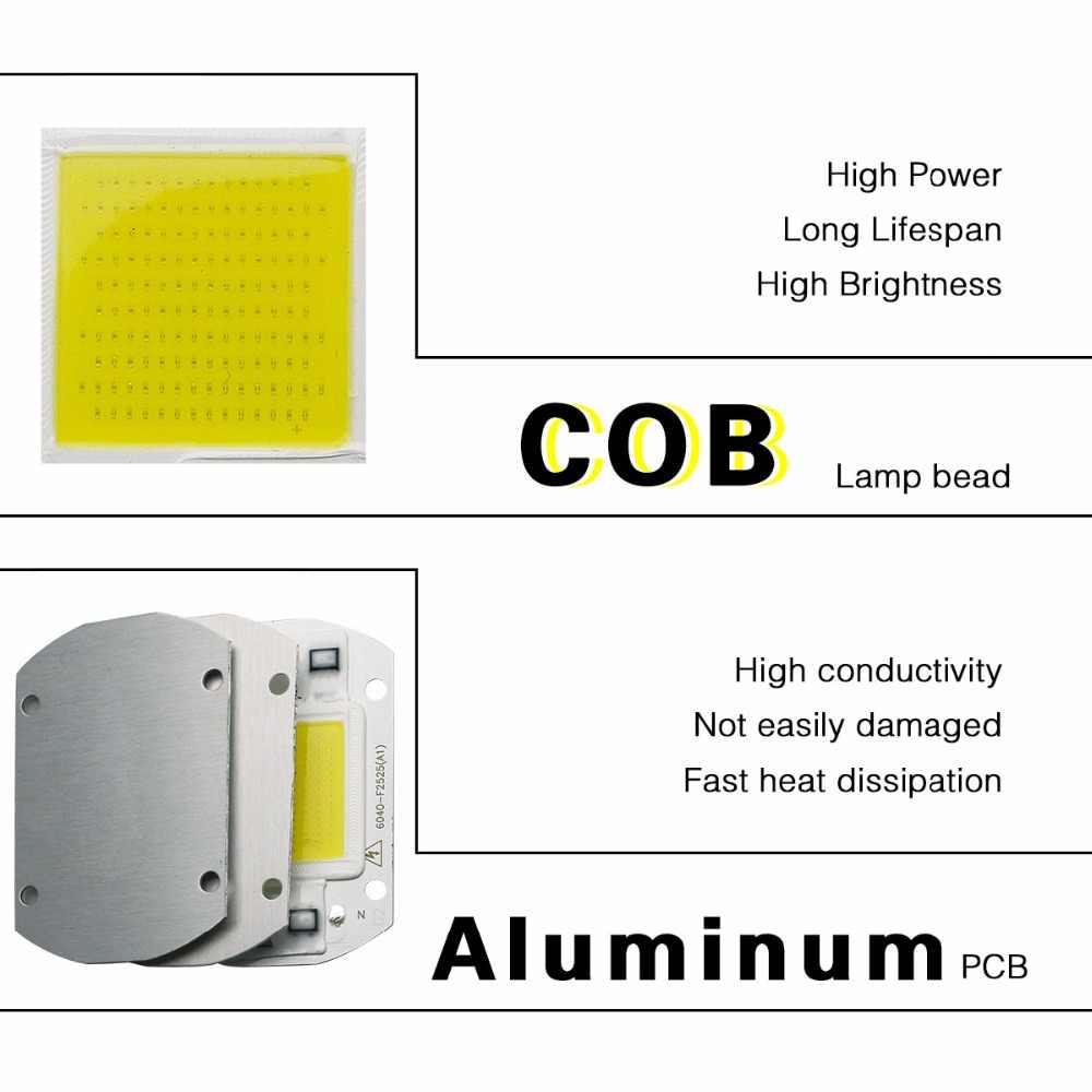 Inteligentny IC wysokiej dioda LED dużej mocy matryca do projektorach 20W 30W 50W 110V 220V DIY światło halogenowe reflektor COB LED na zewnątrz lampa układowa