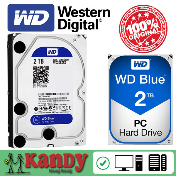 Western Digital WD Blue 2TB hdd sata 3.5 disco duro interno internal hard disk harddisk hard drive disque dur desktop hdd 3,5 PC