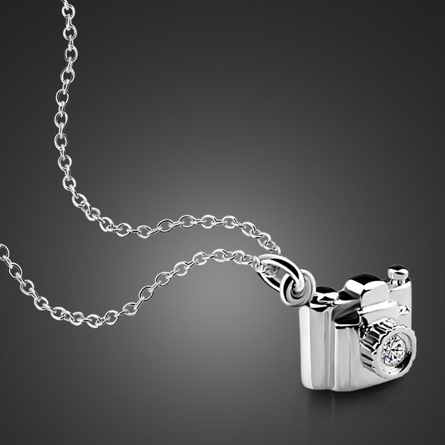 16a61696f49 Fashion personality camera silver pendant 100% solid 925 sterling silver  women necklace. Attractive lady silver jewelry gift