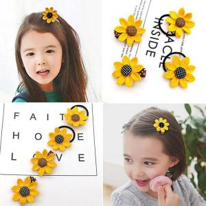 Card Hair-Accessories Hair-Band Little-Girl Sunflower Infantil Children's Tie Tiara Pinza-De-Pelo