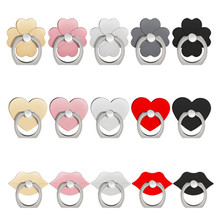 UVR 360 Degree Flower lip Finger Rings Smartphone Phone Stand Holder Mobile Phone holder stand For iPhone iPad Xiaomi all Phone