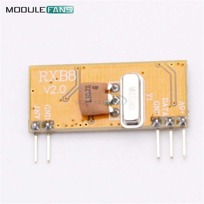 RXB8 433Mhz Superheterodyne Wireless Receiver Module Perfect for Arduino  AVR Board