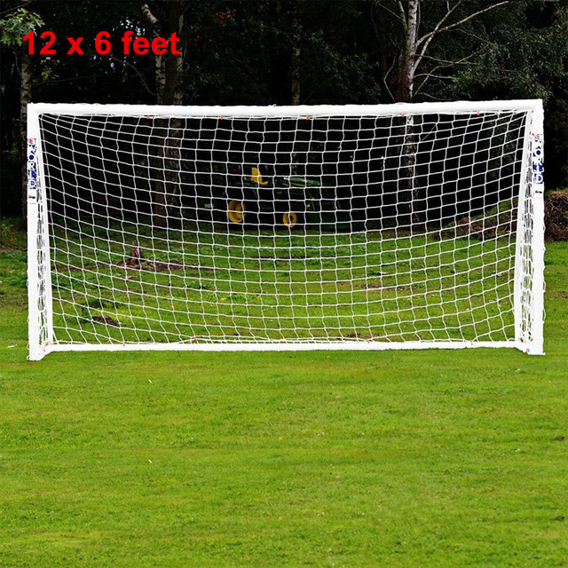 f7c28e84a 12 x 6FT Full Size Portable Football Soccer Nets Durable Junior Sports  Training Practice Tool Ball Games Nets Excluded Goal Gate