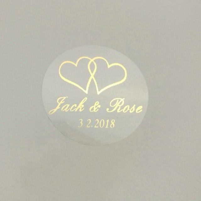 150 adet 30mm özelleştirmek altın baskı kişiselleştirilmiş şeffaf şeffaf düğün nişan davetiye zarf mühürler Sticker