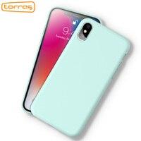TORRAS Original Liquid Silicone Phone Case For IPhone X Rubber Phone Cover Microfiber Full Protective Phone