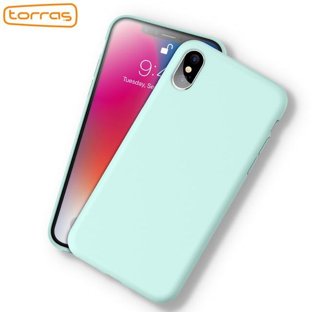 watch 30b04 773e1 US $18.29 |TORRAS Original Liquid Silicone Phone Case for iPhone x Rubber  Phone Cover Microfiber Full Protective Phone Case for iPhone X-in Fitted ...
