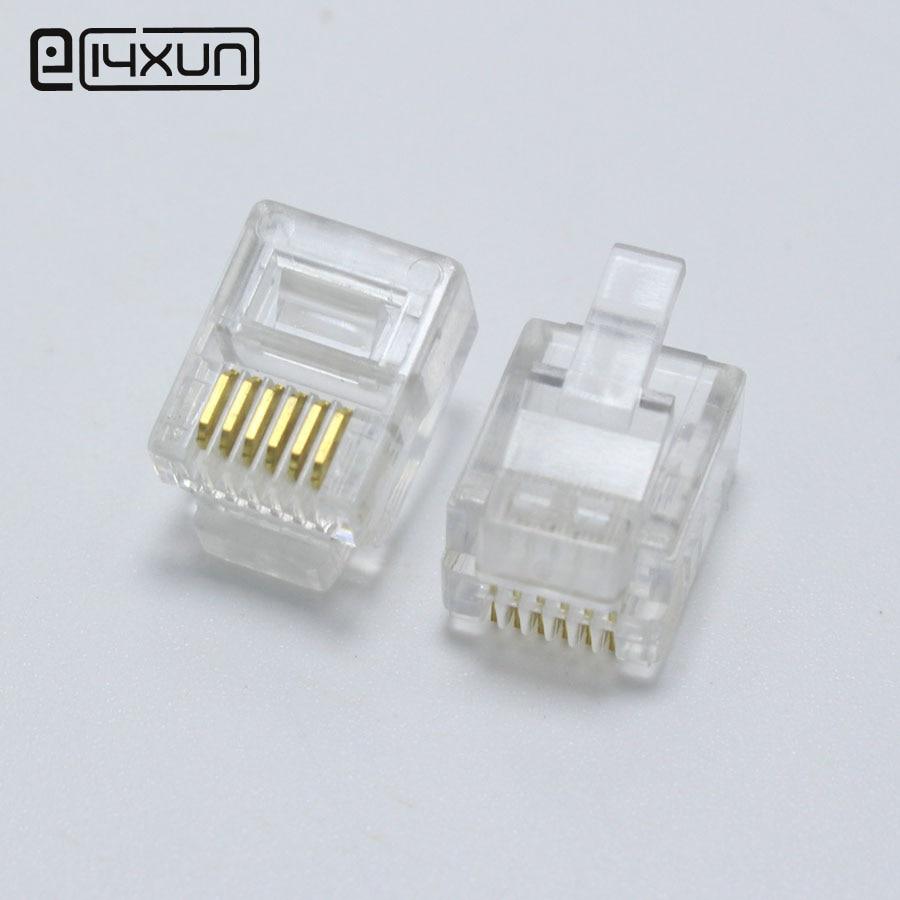 RJ45 CAT6 Modular Network Connector Plug 10pcs - 100pcs