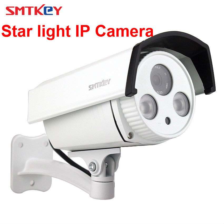 SMTKEY Sensore Esterno Impermeabile Onvif 3516C + IMX291 Array IR LED Star light 1080 P IP Camera Starlight IPC 2MP videocamera di Sicurezza IpSMTKEY Sensore Esterno Impermeabile Onvif 3516C + IMX291 Array IR LED Star light 1080 P IP Camera Starlight IPC 2MP videocamera di Sicurezza Ip