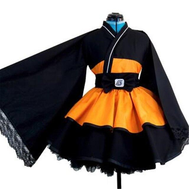 Аниме косплей женский Наруто кимоно