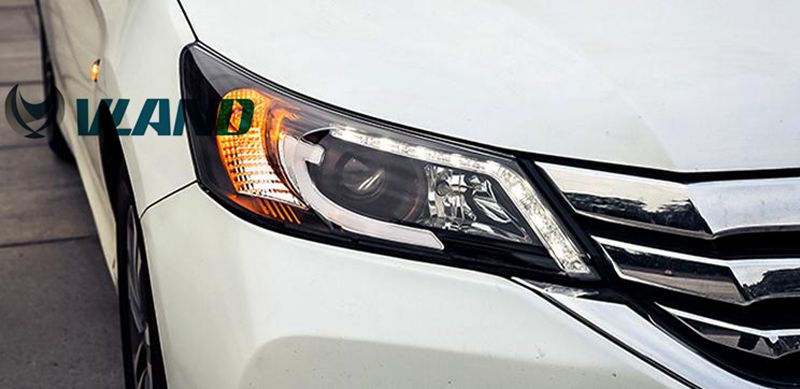 Free Shipping Vland Factory Headlamp for Honda Accord LED Head Lamp LED DRL for Accord 9th Gen HID Lens 2014-2015 Plug and Play free shipping for vland car head lamp for great wall h6 2011 2013 led headlight hid bi xenon headlamp with led drl plug and play