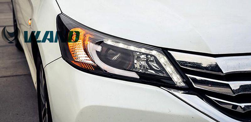 VLAND manufacturer for Car head lamp for Accord LED Headlight 2014-up for Accord Head light with H7 Xenon lamp and light bar vland 2pcs car light led headlight for jetta headlight 2011 2012 2013 2014 demon eyes head lamp